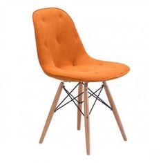 Orange Modern Mod Dining Chair