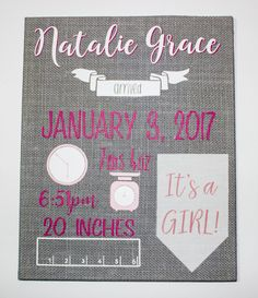 make your own birth announcements