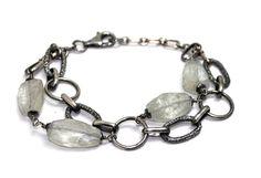 Aqua on a chain, Armbånd i sølv med akvamariner, Bracelet in silver with aquamarines  www.lissiedesign.no
