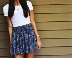 Brandy Melville skirt and shirt