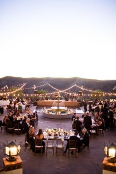 Al Fresco celebrating at its finest...twinkle lights and all. Photography by jasminestarphotography.com, Event Design   Planning by bethhelmstetter.com, Floral Design by hollyflora.com