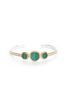 Anna Beck Malachite Cuff Bracelet in GOLD