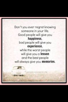 Don't ever regret......