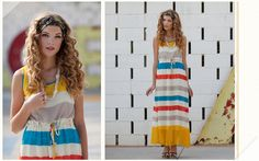 ruche daylight afterglow striped maxi dress.  Might need to make you mine at  $43.99
