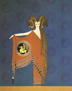 """""""The Golden Fleece"""" Fashion book plate.  Art by Erté.(1892-1990)."""
