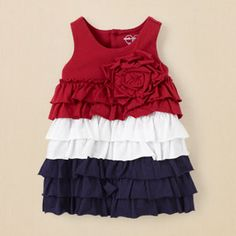 newborn - Americana rose ruffle dress | Children's Clothing | Kids Clothes | The Children's Place