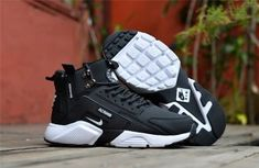 New Arrival NIke Huarache X Acronym City MID Leather Men s Running Sports  Shoes Carbon   White cef742859