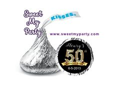 50th 60th 40th 30th Birthday Hershey Kisses Stickers,personalized Birthday Hershey stickers,(1)