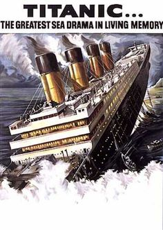 1950 poster - they said it was so well built even God couldn't sink her. Stupid humans!! Don't ever challenge God!