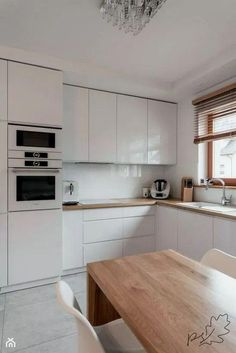 Images found for the search White kitchen with wooden worktop - Kitchen design ıdeas Kitchen Room Design, Interior Design Kitchen, Kitchen Decor, Home Design, Kitchen Ideas, Rustic Kitchen, Country Kitchen, Wooden Worktop Kitchen, Farmhouse Kitchen Cabinets