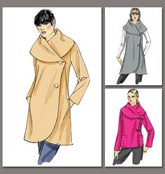 Top right   Vogue Patterns 8775 from Vogue Patterns patterns is a Misses Jacket sewing pattern                                                                                                                                                      More