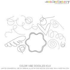 SHCO Confectionery - CU - Doodles/Brushes - Color Vibe Doodles {CU} - www.sugarhillco.com/cc