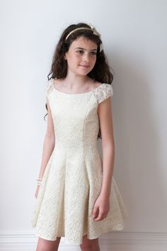 b85f8fd7068d Girls Bridesmaid Dress - David Charles Childrens Wear Gold Bridesmaid  Dresses, Little Girl Dresses,