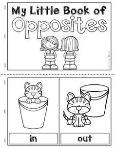 Learning About Opposites:  This download includes a poster set, pairing cards, and a student-made book template.  #opposites  #vocabulary  $