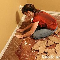 How to make new floors out of Brown Paper (or paper bags) ~ WOW    Looks like leather, and is super inexpensive!