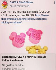 CORTANTES MICKEY E MINNIE (CONJ.2) VEJA na imagem em BAIXO: http://www.akademiamais.com/produto/cortantes-mickey-e-minnie/