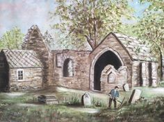 Old Borthwick Church from a painting Family History, Old Photos, Celtic, Trail, Earth, Pictures, Painting, Old Pictures, Photos