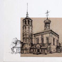 "@anikin_nik บน Instagram: ""#architecture #art #arhitect #sketch #sketchbook #freehand #archisketcher #ar_sketch #arch_more #archfantasy #archi_student #graphic…"""