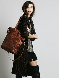 Free People Grove Leather Tote at Free People Clothing Boutique
