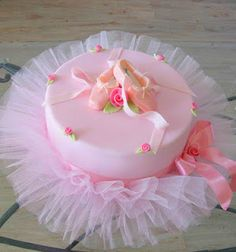 Princess Party - Tulle around a plain store bought cake...soo cute