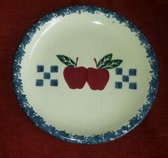 Chaparral Pottery USA Plate Circle Apple Sponge Oval Checkers Decorative Farm
