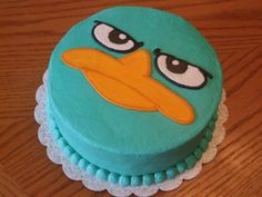 This seems do-able, perry the platypus cake =)