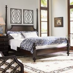 Tommy Bahama Home Royal Kahala Four poster Bed & Reviews | Wayfair