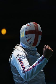 Great Britain,Great Face.  @Karri Best Of London: Day 9 - Slideshows | James-Andrew Davis of Great Britain celebrates beating Alaaeldin Abouelkassem of Egypt during the Men's Foil Team Fencing on Day 9.  (Photo: Hannah Johnston / Getty Images) #NBCOlympics