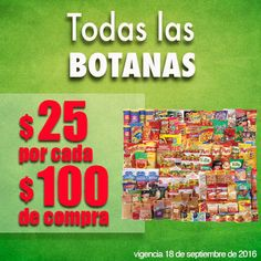 Comercial Mexicana: $25 por cada $100 de compra en botanas | Promocion Descuentos
