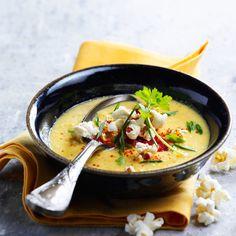 Soupe de maïs doux au chorizo
