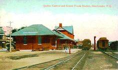 SHERBROOKE, Québec - Quebec Central & Grand Trunk RR station-gare pc