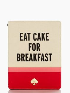 ipad folio hardcase eat cake for breakfast - kate spade new york