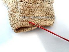 Fermer la base du talon par l'intérieur -