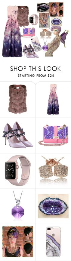 """Beautiful dress 💜"" by suga-kookie-monster-bts ❤ liked on Polyvore featuring Max & Moi, Mary Katrantzou, Valentino, Aspinal of London, Collette Z and Steve Madden"
