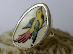 Broken China Ring Chaney Ring  Sterling Silver by MaroonedJewelry, $30.00