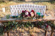 Romantic Desert Elopement Styled Shoot on Borrowed & Blue.  Photo Credit: Larissa Bahr Photography
