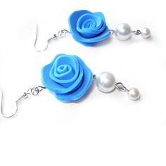 Candy orecchini rose in ogni colore in moosgummi e perle