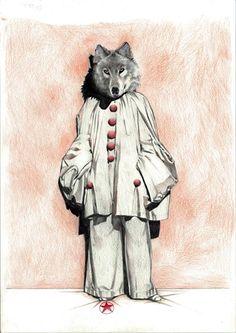 what a fancy wolf -- art by ossko