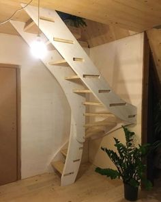 Foldable Prefab A-frame Cabin by MADI in Italy Stairs Design Aframe cabin Foldable Italy MADI prefab Interior Staircase, Staircase Design, Interior Architecture, Interior Design, A Frame Cabin, A Frame House, Loft Stairs, House Stairs, Cabin Design