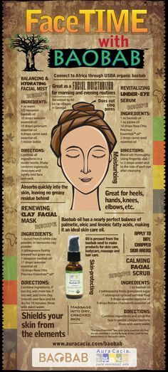 #Baobab isn't called the Tree of Life for no reason! Check out this infographic to learn about all of the things this #superfruit can do for your face.