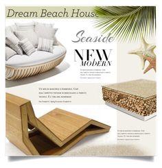"""Dream Beach House"" by jecikilicica ❤ liked on Polyvore featuring interior, interiors, interior design, home, home decor, interior decorating and dreambeachhouse"
