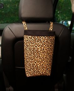 Car Trash Bag LEOPARD PRINT, Men, Women, Car Litter Bag, Auto Accessories, Car Organizer on Etsy, $26.00