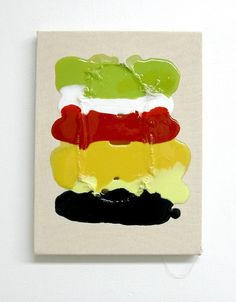"Lorri Ott ""sweet tooth"" 2012 mixed media on canvas h 12"" x w 9"" private collection"