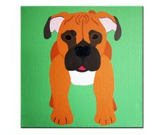 Boxer Dog Painting for a baby room