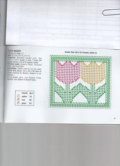 Tulips Basket, Doily & Magnet 4/4