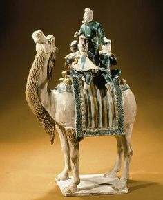 Camel carrying a group of musicians, from a tomb near Xi'an, Shanxi, Tang dynasty, mid 8th c. CE