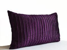 Purple Decorative Pillow Cushion Cover -Deep Dark Purple Throw Pillowcase -All Sizes -Gift -Housewarming -Hostess Host Gift -Thanksgiving