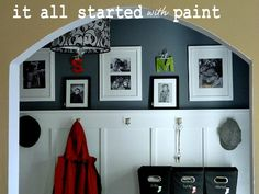Home Tour - It All Started With Paint Blog by Linda - She has informative entries on how she achieved the look including how she painted a sink!  She's an Ace Hardware blogger.  She shows exactly what products she used to achieve her goals.  Great blog and a great home.