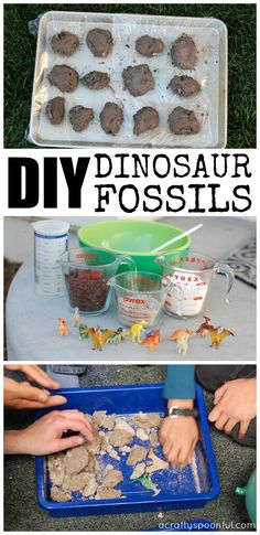 Find out how easy it is to make DIY dinosaur fossils for your next dinosaur birthday party or activity! via @acraftyspoonful