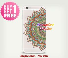 Mandala Clear Phone Case Cover Personalized Clear by MessageCard